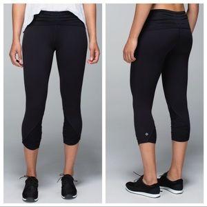 Lululemon Black Embrace Crop Leggings